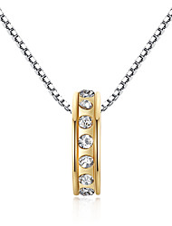 Individual single ring necklace Austria Crystal Necklace Pendant edge set life 0346#