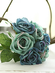 9 Branch/Bouquet Silk Rose Hand Tied Bouquet Artificial Flowers