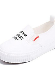 Girl's Loafers & Slip-Ons Comfort PU Casual Black White