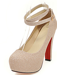 Women's Shoes Chunky High Heel Round Toe Platform Ankle Strap Pump More Color Available