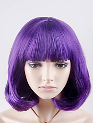 Europe and the United States and the new short paragraph Qi Liuhai purple pear head high temperature wire wig