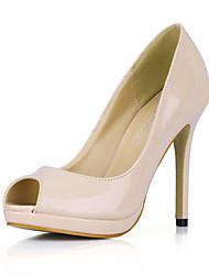 Women's Heels Comfort PU Office & Career Dress Casual Stiletto Heel Skin