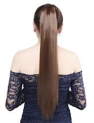 1pcs 22 '' wrap 110g autour synthétique clip dans la queue de cheval extensions de cheveux queue de cheval droite morceau de cheveux 8 #