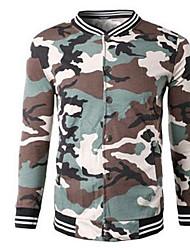 Men's Plus Size Casual/Daily Active Sweatshirt Print Fur Trim V Neck Fleece Lining Inelastic Cotton Long Sleeve Spring Fall