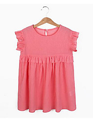 Girl's Casual/Daily Solid Dress,Rayon Summer Short Sleeve