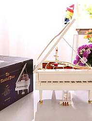 1 PC  Super Girl Dance Piano Music Box Creative Clockwork Music Box For Christmas Decoration