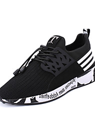 Men's Fashion Running Shoes Light Soles Tulle Athletic Shoes Casual Sneakers Flat Heel Lace-up 3 Color (Size 39-45)
