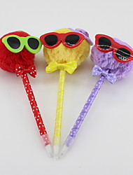 Three-dimensional Non-woven/Plastic Handmade Lovely Glasses Cartoon Style Craft BallPoint Pen