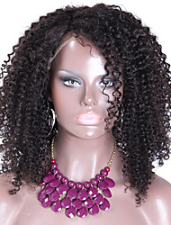 Indian Hair Afro Kinky Curly Wig Glueless Full Lace 150% Density Human Hair Wig  For Black Women