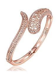 Bracelete Pulseiras Algema Zircão Rosa Folheado a Ouro imitação de diamante Liga Moda Vintage Estilo Boêmio Estilo Punk Hip-HopFormato