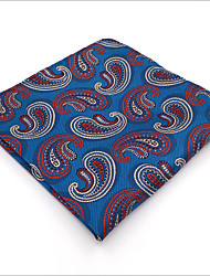 Mens Pocket Square Royal Blue Paisley 100% Silk Business Fashion Dress For Men