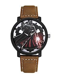 Men's Women's Fashion Watch Quartz / Leather Band Casual Black Brown Brand