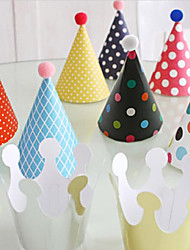 Hard Card Paper Party Hat Birthday Party Crowns Hats Cone Hats Paper Hats Party Festival Decorations Wedding Decorations-11Piece/Set