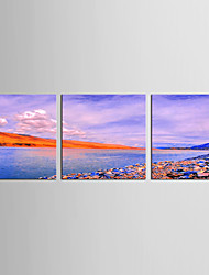 Canvas Set Landscape Abstract Landscape Modern Mediterranean,Three Panels Canvas Vertical Print Wall Decor For Home Decoration