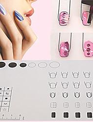 1pcs plaque silicone vernis mat espace de travail d'emboutissage outils mat lavable de transfert de table pour nail art
