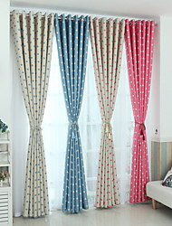 Two Panels European Style Polka Dot Print Curtain  Children Bedroom Living Room Curtains