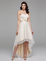 LAN TING BRIDE Robe de Soirée Robe de mariée Tout Simplement Superbe Colorées Asymétrique Coeur Mousseline de soie Satin Tulle avec