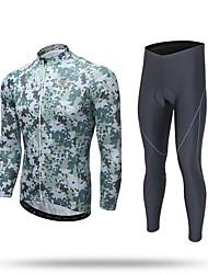 XINTOWN Calça com Camisa para Ciclismo Homens Manga Longa Moto Camisa/Roupas Para Esporte Calças Moletom Camiseta com Fecho Blusas