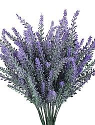 1 Ramo Poliéster Flor de Mesa Flores artificiais 10