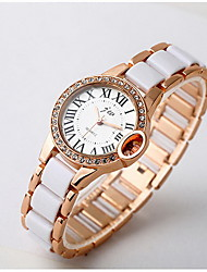 Women's Fashion Watch Quartz Alloy Band Cool Casual White Rose Gold Rose Gold