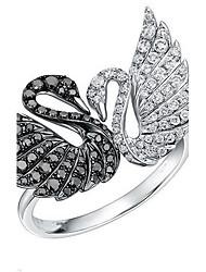 Ringe Tierform Modisch individualisiert Alltag Normal Schmuck Sterling Silber Ring 1 Stück,Eine Größe Wie in der Abbildung angezeigt