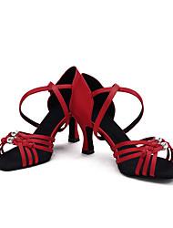 Для женщин-Атлас-Не персонализируемая(Черный Синий Коричневый Фиолетовый Красный Темно-коричневый) -Латина Сальса