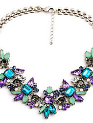 Statement Necklaces Crystal Alloy Fashion Jewelry For Party Special Occasion Casual 1pc