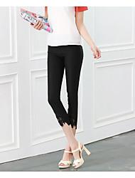 versão coreana do laço calça calças de cintura pés leggings rebate barato não muda