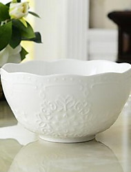 Ceramic Dining Bowl Dinnerware with High Quality Relief Soup Bowl 1pcs