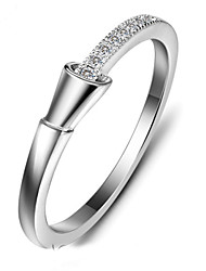 Genuine 925 Sterling Silver Lady Rings Delicate Brand Silver Cubic Zirconia Ring For Lady