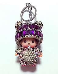 Key Chain Diamond Toys Cartoon Lovely Leisure Hobby Purple Crystal