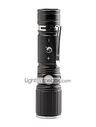 U'King ZQ-X1068B CREE XML T6 2000LM White/ Red LED Both 3 Modes Zoomable Flashight Torch with USB Charging Cable and Clip