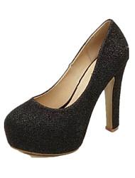 Damen-High Heels-Lässig-PU-Blockabsatz-Komfort