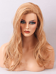 2017 Women's Wigs Long Blonde Wavy Hairstyle Human Hair Lace Front Wig