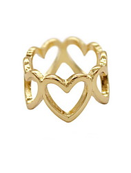 Ring Love Heart Gold Plated Alloy Heart Jewelry For Daily Casual