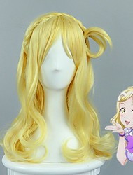 LoveLive!Sunshine!! Mari Ohara Lovely Culy Braid Styled Golden Cosplay Wig Female Halloween Party Wigs High Quality Heat Resistant Custome Wig
