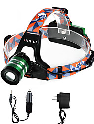 U'king ZQ-G70000BGreen CREE T6 LED 2000LM 3Mode Adjustable Focus Headlamp Bike Light for Camping/Hiking/Caving Everyday Use Cycling