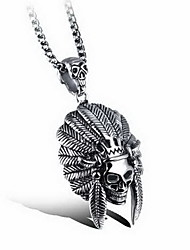 Men's Pendants Titanium Steel Animal Shape Skull / Skeleton Basic Fashion Silver Jewelry Daily Casual 1pc