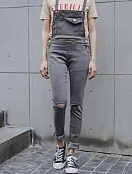 assinar nova versão coreana foi cinta fina estiramento buraco de jeans pés maré filha mais velha
