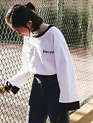 Модель реальный выстрел небольшой свежий дикий студент ширина профиля рукав хлопок жакет футболка темно-синий ветер