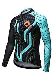 MYSENLAN® Cycling Jersey Men's Long Sleeve Bike Quick Dry Jersey Polyester Classic Fashion Spring Summer Fall/Autumn Cycling/Bike