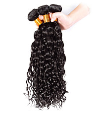 Natural Color Hair Weaves Brazilian Texture Curly 3 Pieces hair weaves