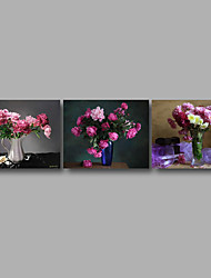 Stretched Canvas Print Three Panels Canvas Wall Decor Home Decoration Abstract Modern Pink Roses