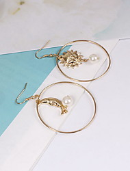 Earrings Set Imitation Pearl Mismatch Pearl Imitation Pearl Alloy Moon Jewelry For Daily Casual