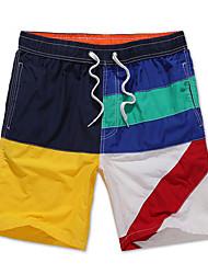 Hommes Grandes Tailles Ample Joggings Short Pantalon,simple Bohème Actif Décontracté / Quotidien Plage Sportif Blocs de Couleur Mosaïque