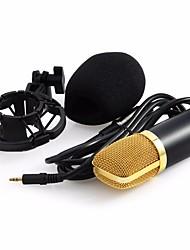 Professional BM-700 Condenser KTV Microphone BM700 Cardioid Pro Audio Studio Vocal Recording Mic KTV Karaoke+ Metal Shock Mount Avec fil