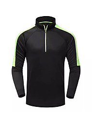 Women's Men's Soccer Tracksuit Spring Summer Fall/Autumn Winter Polyester Exercise & Fitness Racing Cross-Country Running Green Black
