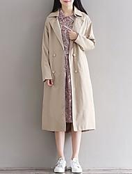 Модель реальный выстрел съемки случай перемещения / ретро шить длинный отрезок женщин ветровка куртка осенью и зимой