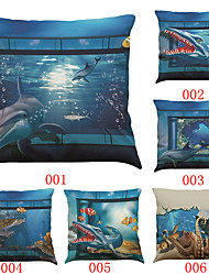 Set of 6 3D effects pattern   Linen Pillowcase Sofa Home Decor Cushion Cover (18*18inch)