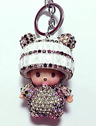 Dolls Key Chain Toys Leisure Hobby White Crystal